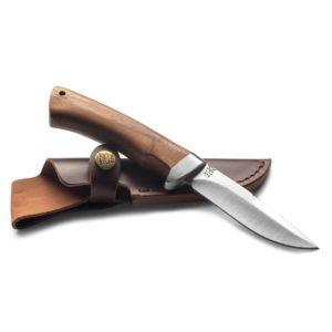 Billig överlevnadskniv ØYO Hallingskarvet Knife with Leather Sheath